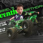 Monster Truck Birthday Invite