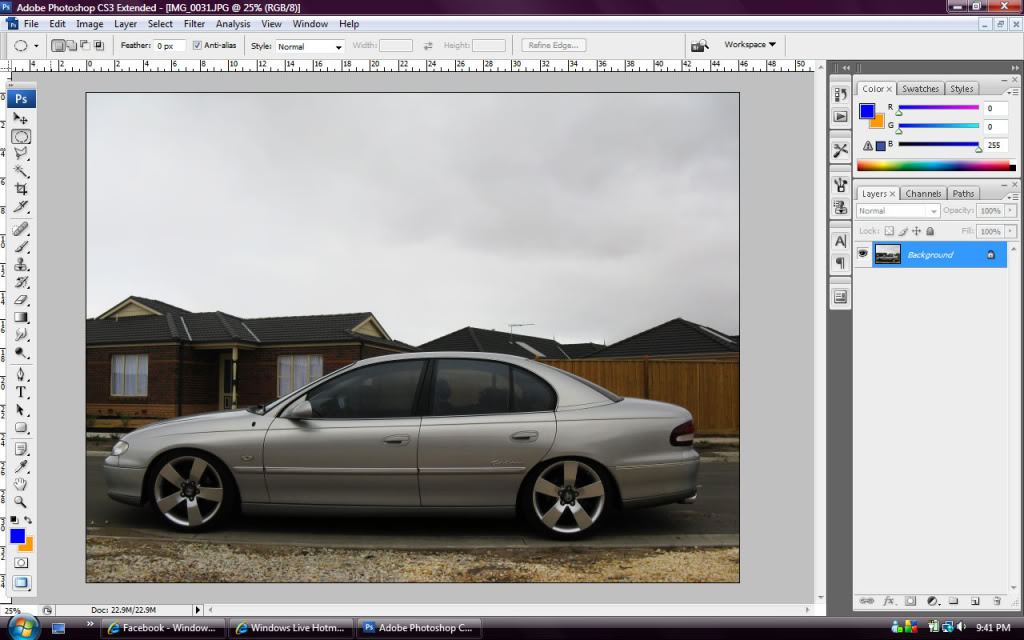 Whitewalls in Photoshop - Step 1