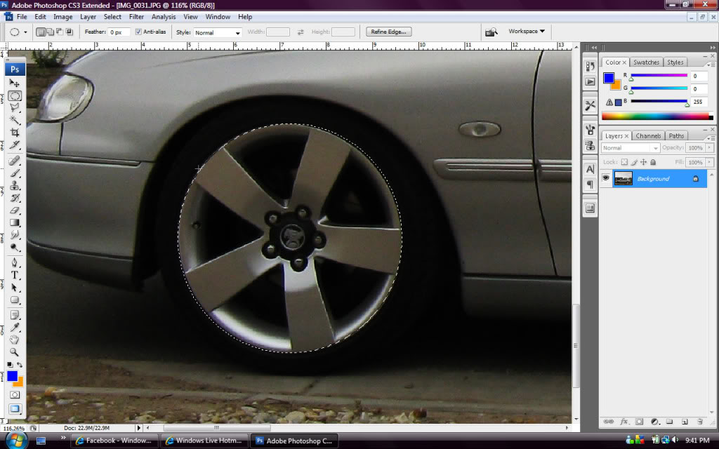 Whitewalls in Photoshop - Step 2