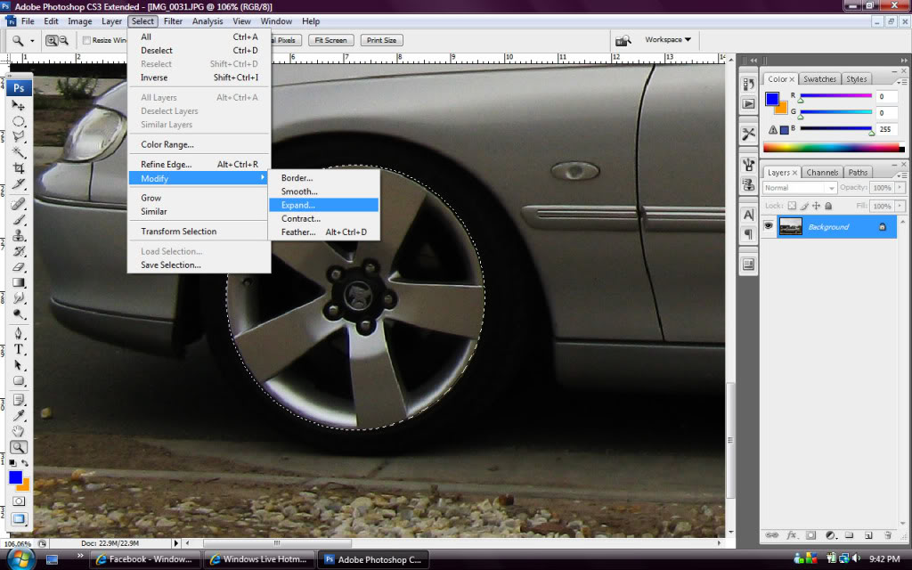 Whitewalls in Photoshop - Step 3