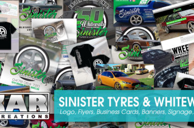 Sinister Tyres & Whitewalls – Full Branding Suite