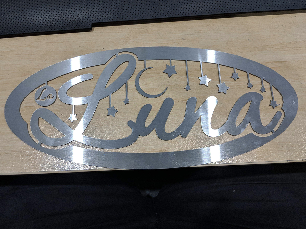 Waterjet Cut Signage by MRC WaterJet Cutting