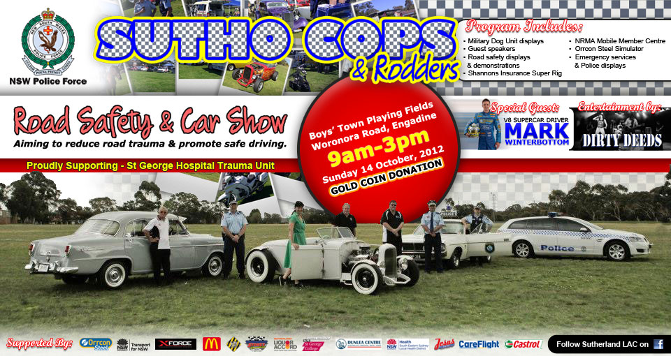 Landscape Flyer for Cops & Rodders