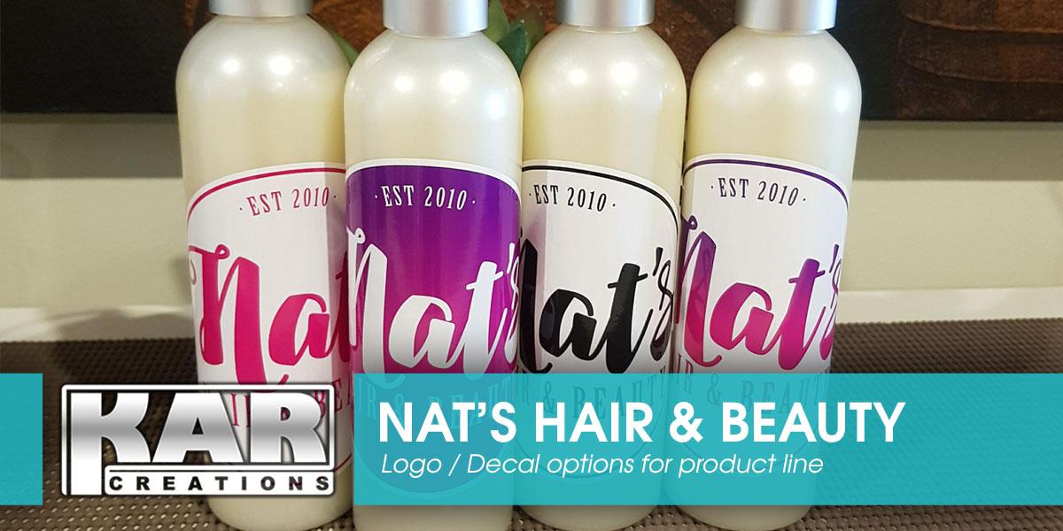 Nat's Hair & Beauty Logo Design