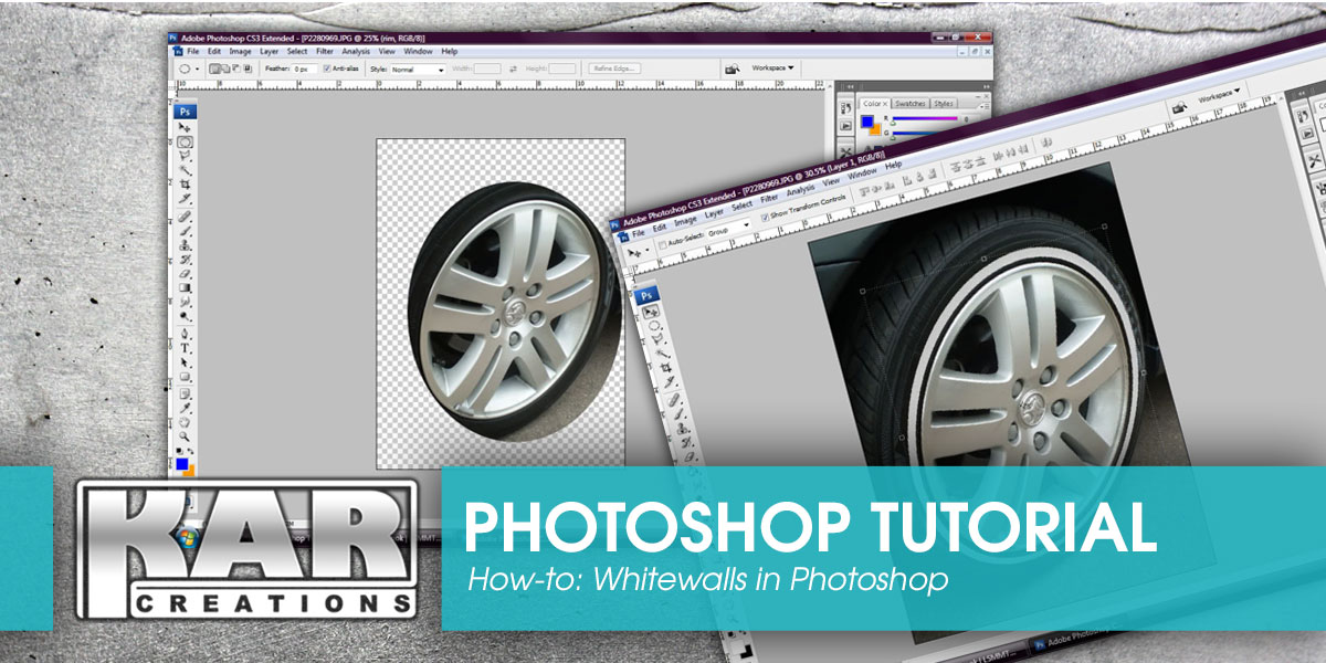 Whitewalls on your ride: A Photoshop Tutorial